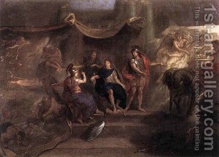 The Resolution of Louis XIV to Make War on the Dutch Republic by Charles Le Brun - Reproduction Oil Painting