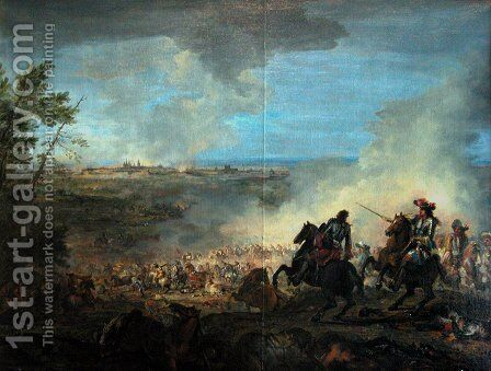 The second conquest of Franche-Comté (1674) by Charles Le Brun - Reproduction Oil Painting