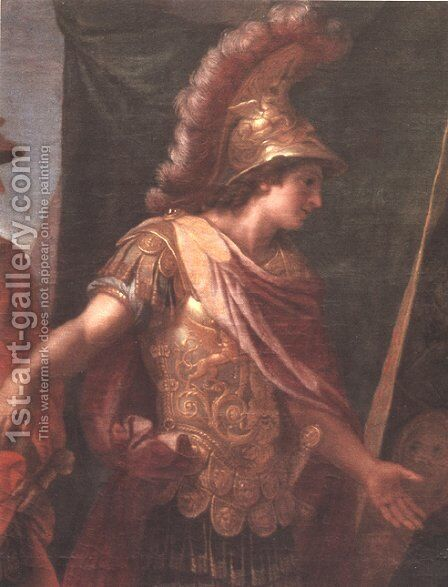 The tent of Darius (detail) by Charles Le Brun - Reproduction Oil Painting