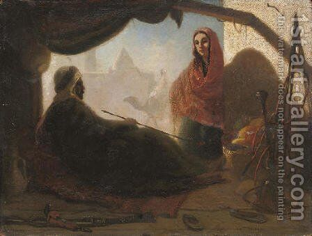The Warrior's Rest by Charles Théodore Frère - Reproduction Oil Painting