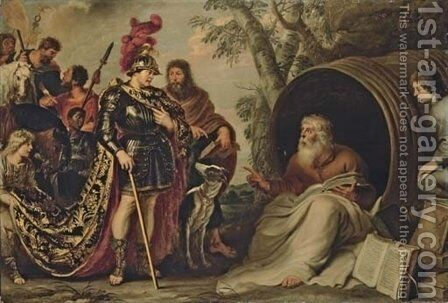 Alexander and Diogenes by Cornelis De Vos - Reproduction Oil Painting