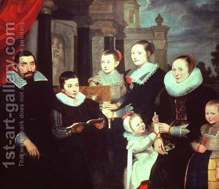 Portrait of a Family by Cornelis De Vos - Reproduction Oil Painting