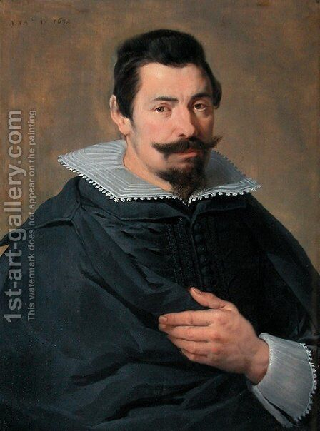 Portrait of a forty-five years man by Cornelis De Vos - Reproduction Oil Painting