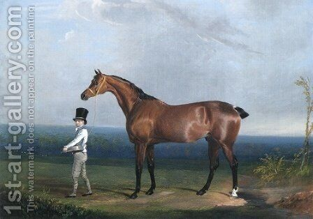 Bay Hunter Of William Hatfield by John Frederick Herring Snr - Reproduction Oil Painting