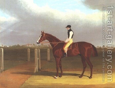 Colonel With Jockey Up 2 by John Frederick Herring Snr - Reproduction Oil Painting