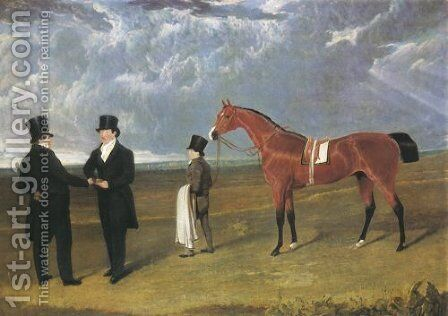 Don Antonio A Bay Racehorse 1824 by John Frederick Herring Snr - Reproduction Oil Painting