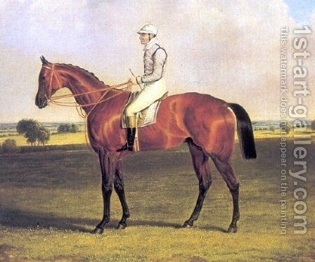Little Wonder with Jockey Up 1840 by John Frederick Herring Snr - Reproduction Oil Painting