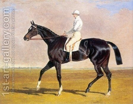 Lucetta with Jockey Up 1834 by John Frederick Herring Snr - Reproduction Oil Painting