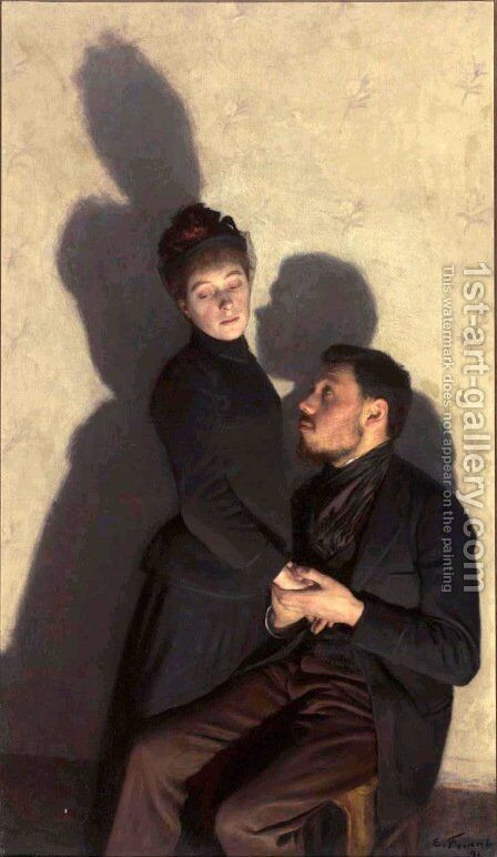 Cast Shadows by Emile Friant - Reproduction Oil Painting