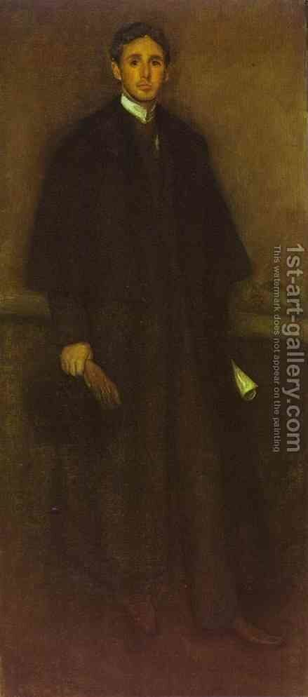Arrangement in Flesh Colour and Brown, Portrait of Arthur J. Eddy by James Abbott McNeill Whistler - Reproduction Oil Painting