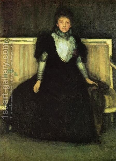 Green and Violet, Portrait of Mrs. Walter Sickert by James Abbott McNeill Whistler - Reproduction Oil Painting