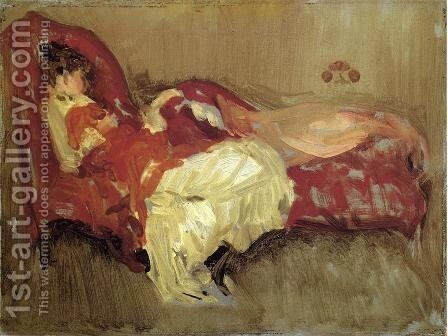 Note in Red, The Siesta by James Abbott McNeill Whistler - Reproduction Oil Painting