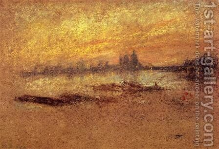 Red and Gold, Salute, Sunset by James Abbott McNeill Whistler - Reproduction Oil Painting