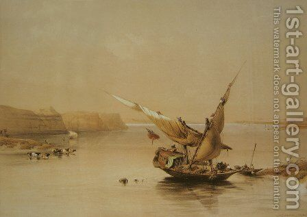 Approach to the Fortress of Ibrim by David Roberts - Reproduction Oil Painting