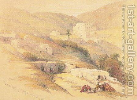 Christian Church of St. George at Lud, ancient Lydda by David Roberts - Reproduction Oil Painting
