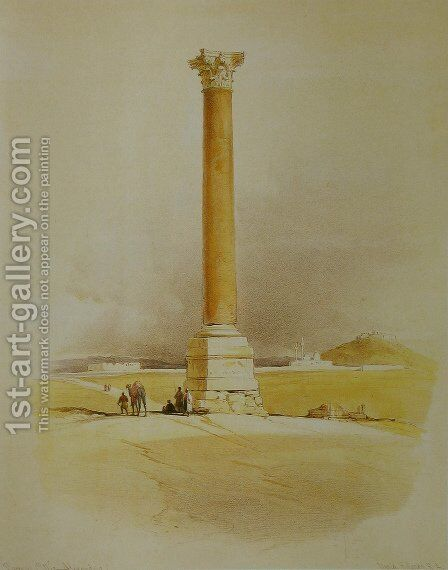 Pompejus Column,Egypt by David Roberts - Reproduction Oil Painting