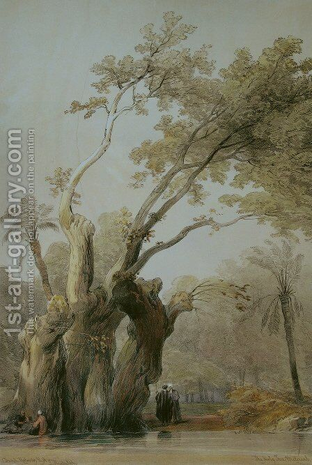 The holy tree of Metereah by David Roberts - Reproduction Oil Painting
