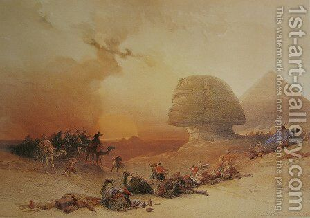 The simoon in the desert by David Roberts - Reproduction Oil Painting