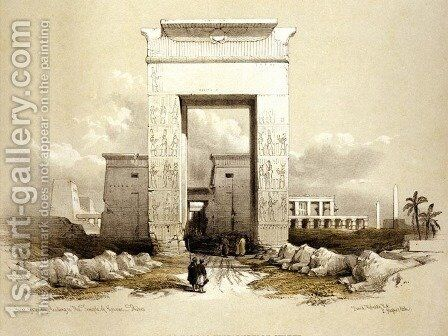 01 Great Gateway leading to the Temple of Karnac, Thebes for Eygpt and Nubia by David Roberts - Reproduction Oil Painting