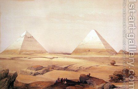 10 Pyramids of Geezeh by David Roberts - Reproduction Oil Painting