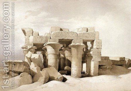 20 Ruins from Kom Ombo by David Roberts - Reproduction Oil Painting