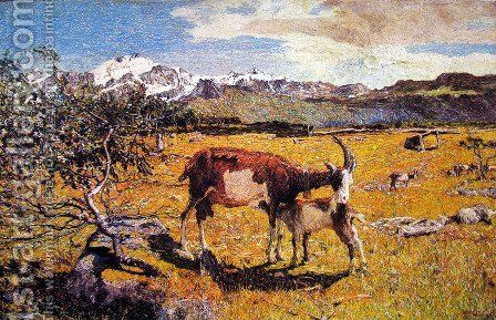 Alpe di Maggio by Giovanni Segantini - Reproduction Oil Painting