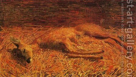 Capriolo morto by Giovanni Segantini - Reproduction Oil Painting