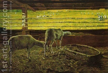 Contrast of light by Giovanni Segantini - Reproduction Oil Painting