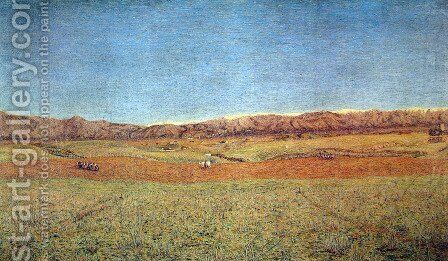 Landscape by Giovanni Segantini - Reproduction Oil Painting