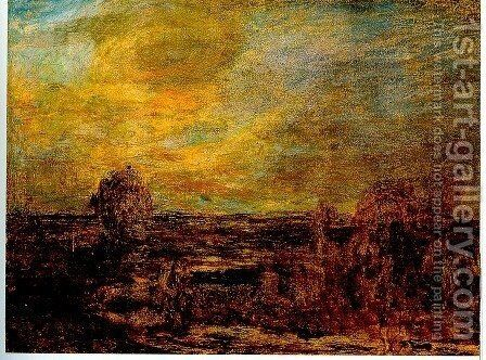 Level at dusk by Giovanni Segantini - Reproduction Oil Painting