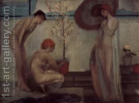 Life angel by Giovanni Segantini - Reproduction Oil Painting