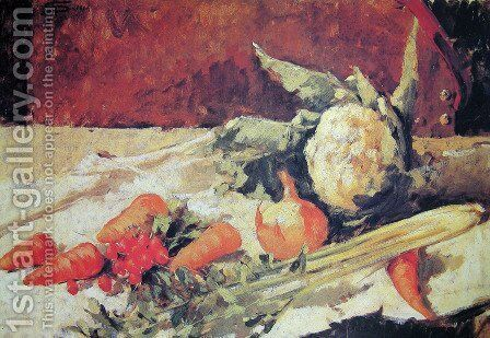 Still life with carrots by Giovanni Segantini - Reproduction Oil Painting