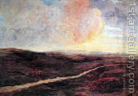 Sundown at Pusian by Giovanni Segantini - Reproduction Oil Painting