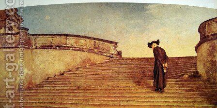 The Fray by Giovanni Segantini - Reproduction Oil Painting
