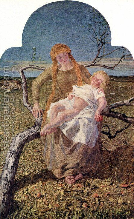 The Fruits of Love by Giovanni Segantini - Reproduction Oil Painting