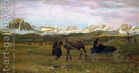 The Last Journey (Return to Native Soil) by Giovanni Segantini - Reproduction Oil Painting