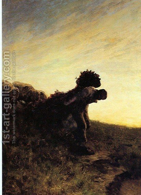 The last effort of the day by Giovanni Segantini - Reproduction Oil Painting
