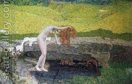 Vanity by Giovanni Segantini - Reproduction Oil Painting