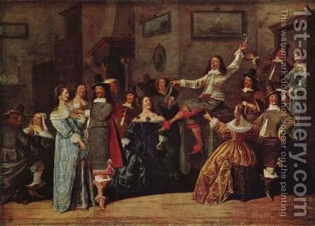 Funny society by Dirck Hals - Reproduction Oil Painting