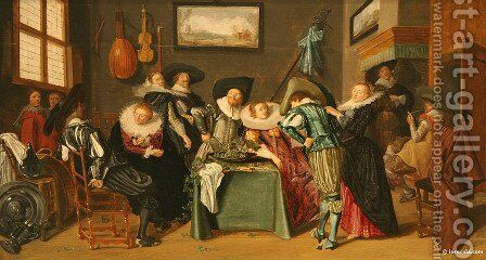 The Merry Company by Dirck Hals - Reproduction Oil Painting