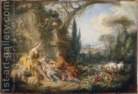 Charms of life champêtre by François Boucher - Reproduction Oil Painting