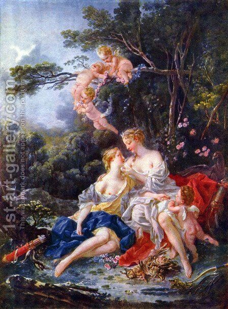 Jupiter and Kallisto by François Boucher - Reproduction Oil Painting
