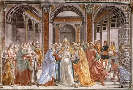 04, Marriage of Mary by Domenico Ghirlandaio - Reproduction Oil Painting