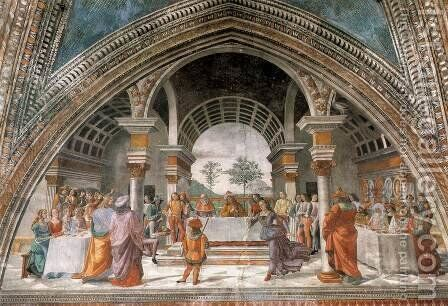 17, Herod's Banquet by Domenico Ghirlandaio - Reproduction Oil Painting