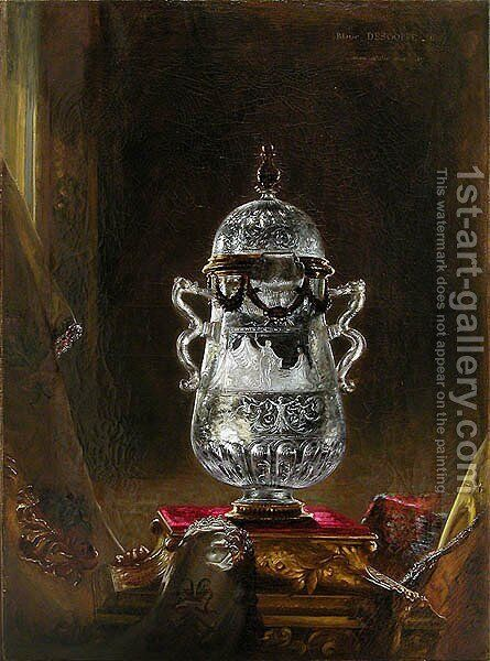 Crystal rock vase by Blaise Alexandre Desgoffe - Reproduction Oil Painting