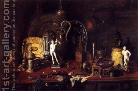 Still life with objects of Wallace by Blaise Alexandre Desgoffe - Reproduction Oil Painting