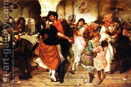 Mazurka Dance by Egisto Lancerotto - Reproduction Oil Painting