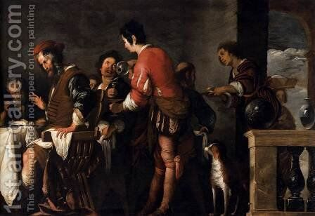 Banquet at the House of Simon (detail 1) by Bernardo Strozzi - Reproduction Oil Painting