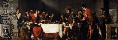 Banquet at the House of Simon by Bernardo Strozzi - Reproduction Oil Painting