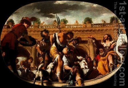 The Parable of the invited unworthy by Bernardo Strozzi - Reproduction Oil Painting